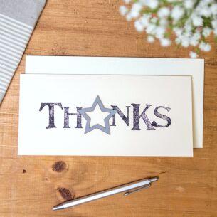 'Thanks' Word Card