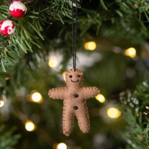 Christmas Felt Hanging Gingerbread Man