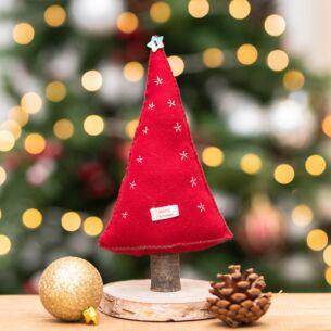 Red Felt Christmas Tree