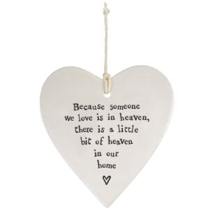 'Because Someone We Love' Porcelain Round Heart