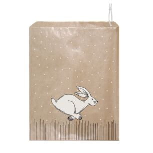 'Hare Running' Pack of 50 Small Strung Bags