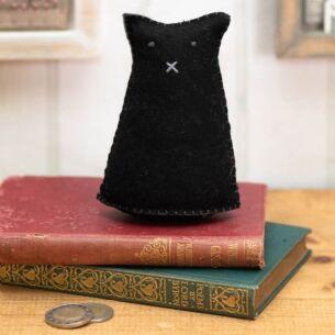 Ernie Black Cat Felt Decoration