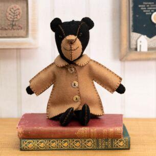 Freddie Bear in Jacket Felt Decoration