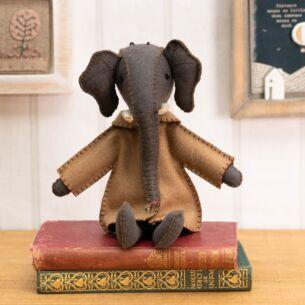 Ellie Elephant in Jacket Felt Decoration
