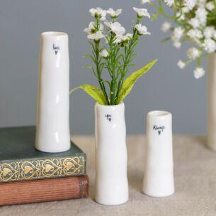 'Love You Always' Trio of Bud Vases