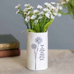'Home Where Friends Meet' Small Porcelain Vase