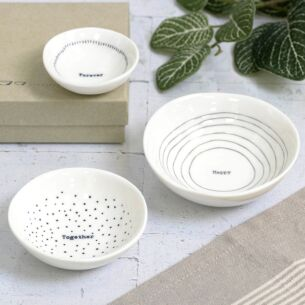 'Happy Together Forever' Set Of 3 Boxed Bowls