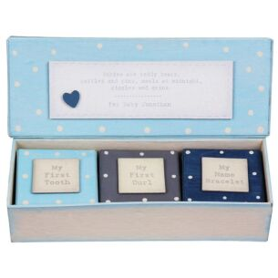 Personalised Baby Triple Box Set Blue