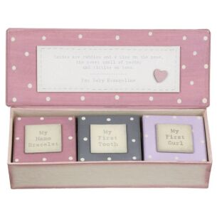 Personalised Baby Triple Box Set Pink