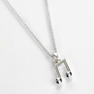 Music Collection Silver Plated Notes Necklace