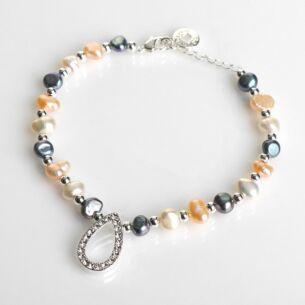 Equilibrium Freshwater Pearl Diamond Teardrop Bracelet