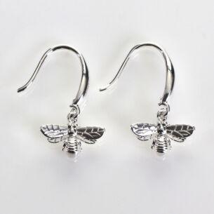 Silver Plated Honey Bee Earrings
