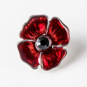 Equilibrium Delicate Poppy Pin Brooch