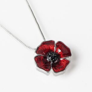 Delicate Small Poppy Necklace