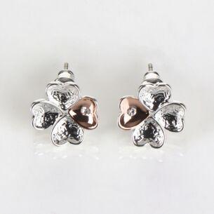 Two Tone Hearts A Plenty Stud Earrings