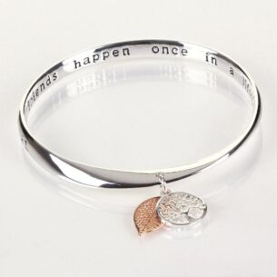 Equilibrium 2 Tone Tree of Life Friend Bangle