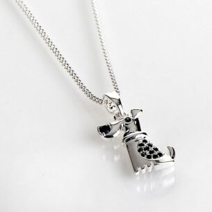 Silver Plated Modern Dog Necklace