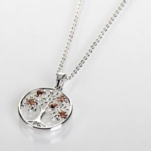 Two Tone Blossom Tree Of Life Necklace