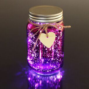 Purple LED Firefly Jar