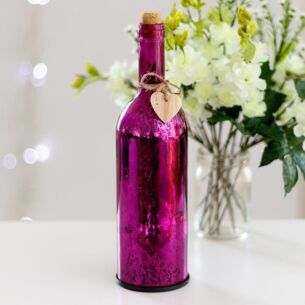 Purple LED Firefly Bottle
