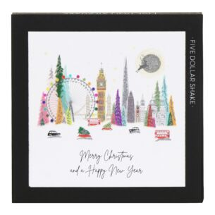 London Colour 'Merry Christmas, Happy New Year' – Box of 6 Christmas Cards