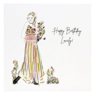 'Happy Birthday Lovely' Birthday Card