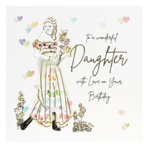 'To A Wonderful Daughter' Birthday Card