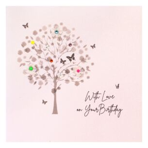 'With Love On Your Birthday' Tree Birthday Card