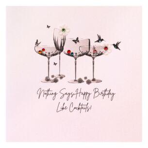 'Happy Birthday' Cocktails Birthday Card