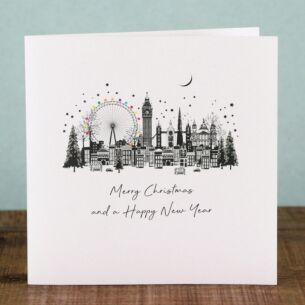 London Skyline Scene - Box of 6 Christmas Cards