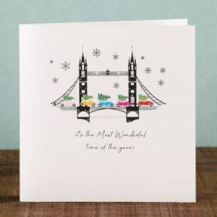 London Tower Bridge Scene - Box of 6 Christmas Cards