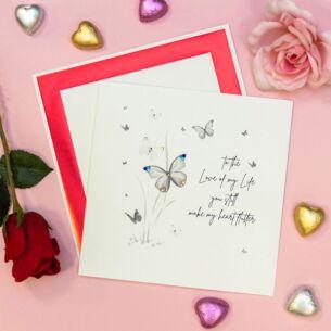 Large 'You Still Make My Heart Flutter' Valentine's Day Card