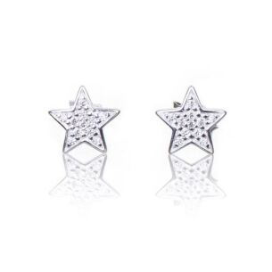 Elements Cubic Zirconia Star Boxed Silver Stud Earrings