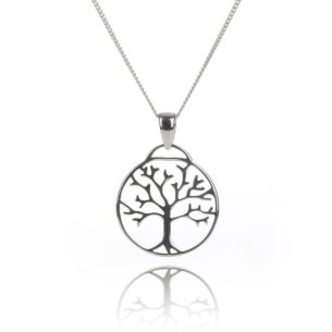 Silver Tree of Life Cut Out Pendant