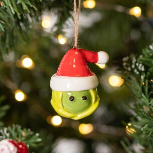 Ceramic Brussels Sprout Christmas Tree Decoration