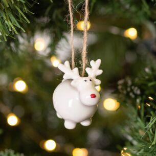 Little Ceramic Reindeer Christmas Tree Decoration