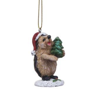 Assorted Hedgehog Christmas Tree Decoration
