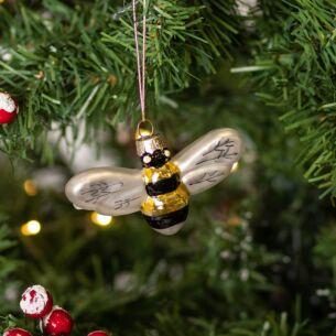 Glass Bumblebee Tree Decoration