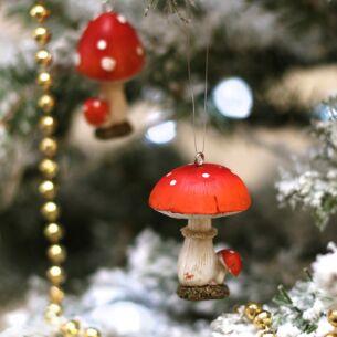 Resin Toadstool Tree Decoration