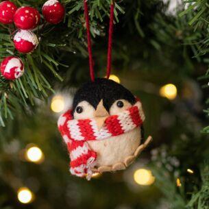 Assorted Penguin Woollen Tree Decoration