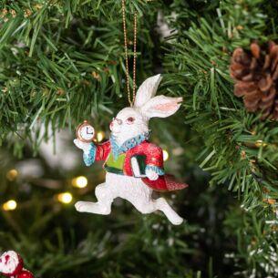 Resin White Rabbit Tree Decoration
