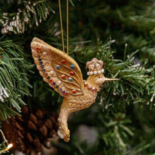 Resin Hummingbird Tree Decoration