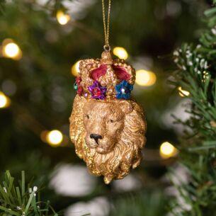 Resin Lion's Head Tree Decoration