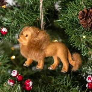 Faux Fur Lion Tree Decoration