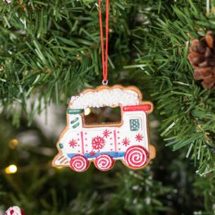 Assorted Resin Gingerbread Train Tree Decoration