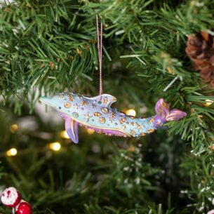 Pastel Resin Dolphin Tree Decoration