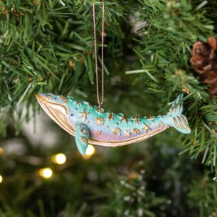 Pastel Resin Whale Tree Decoration
