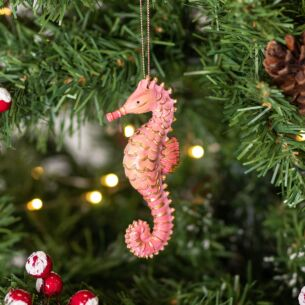 Assorted Pastel Resin Seahorse Tree Decoration