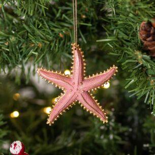 Assorted Pastel Resin Starfish Tree Decoration