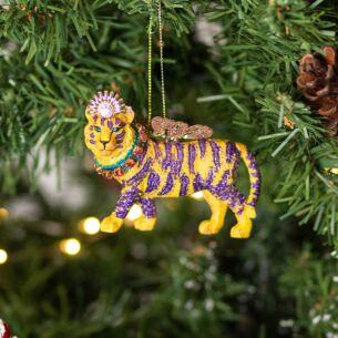 Assorted Fantasy Tiger Resin Tree Decoration